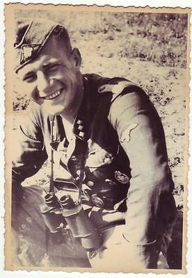 German Wwii Photo From Russian Archive: Smiling Soldier
