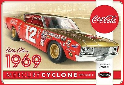 Polar Lights 1:25 Bobby Allison 1969 Coca Cola Mercury Cyclone POL948 PLL948