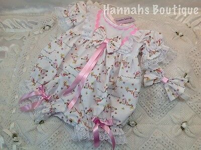 Hannahs Boutique 3-6 Mth Baby Bird Spanish Traditional Romper/bubble Reborn