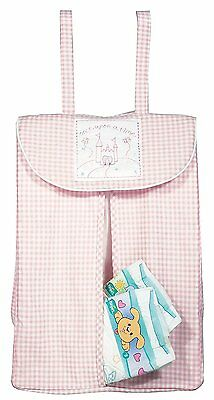 NEW Walton Baby - Once Upon a Time Pink Gingham Nappy Stacker