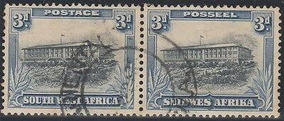 South West Africa 1931 3d Bilingual Pair SG 77 Used