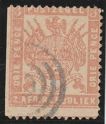 A very nice early Transvaal Three Penny issue (Fine Used)1 side imperf.