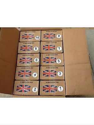 Army ration packs (x10) / military long life food.PICK UP ONLY,CASH ONLY...