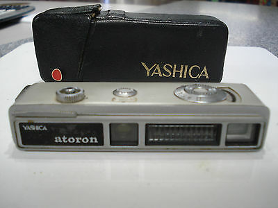 ** Vintage Sub-MINIATURE -- SPY CAMERA ** YASHICA * ATORON with CASE * works *