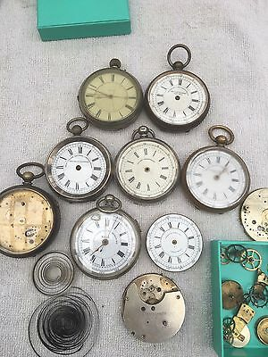 Joblot Chronograph Swiss Made Pocket Watches For Spears Or Repair