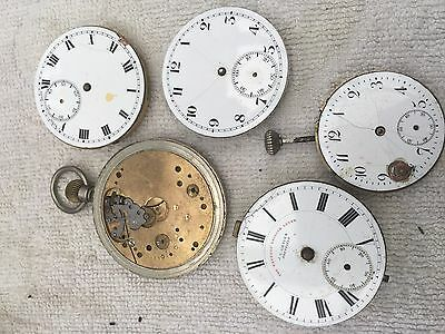Antique Pocket Watch Movement Spears Or Repair