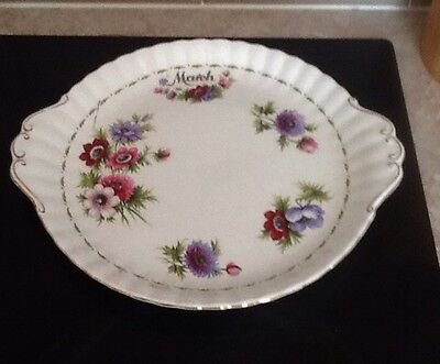 """Royal Albert Flower Of The Month """"Anemones. March,sandwich/ Cake Plate"""