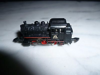 märklin spur z black Loco BR 89 with 5 pole Engerine with red Stripes unused