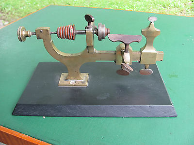 Antique OLINS Watchmaker Jewelers Brass Lathe Patent 1880