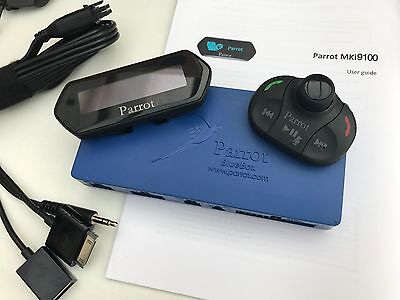 Complete Parrot MKi9100 Updated v2.20 Bluetooth Hands-Free Car Kit LCD screen