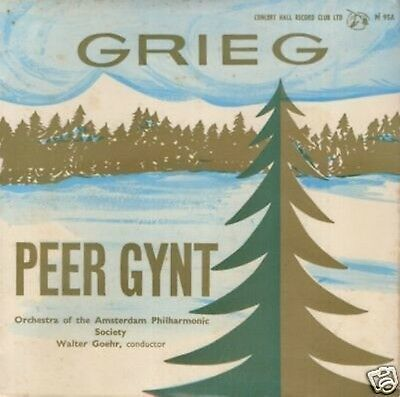 "GRIEG Peer Gynt 7"" 45rpm Walter Goehr UK Concert Hall Record Club"