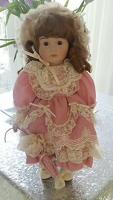 Boxed Heirloom Treasure Doll Porcelain Face & Hands