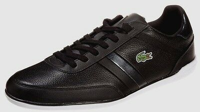 Baskets Lacoste - Giron cuir noirs - taille 44,5 - NEUF