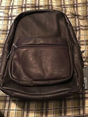 Kenneth Cole Reaction  Ahead Of The Pack Leather Business & Laptop Backpack NEW