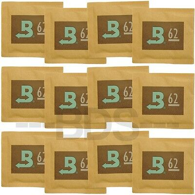 12 Pack Boveda 62% Humidity Regulator 8g 2-Way Humidifier Moisture Humidipack