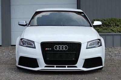Audi A3 S3 8P 8Pa Rs3 Look Front Bumper And Grille + Foglights 08-13 Abs Plastic
