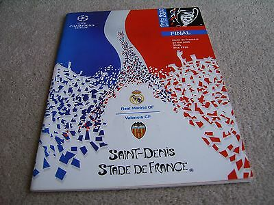 2000 Champions League Final programme Real Madrid v Valencia