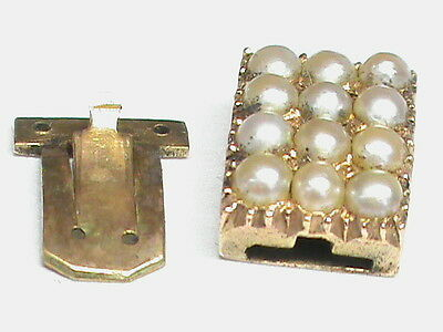 Antique Georgian 9k 9ct gold Pearl Clasp for necklace or bracelet