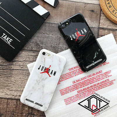 Hot Jordan Marble Granite Stone Effect Cool Soft Case For iPhone X 6 6s 7 8 Plus
