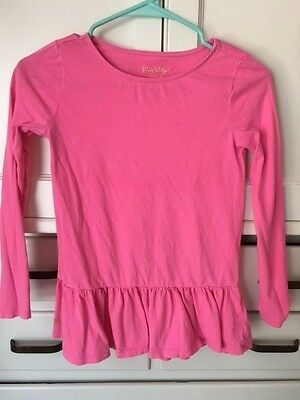 EUC Girls Lilly Pulitzer Long Sleeve Pink Tee Shirt Size Large 8 - 10 $34