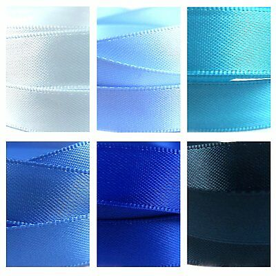 Quality Satin Ribbon By The Metre 1-3m, Blues, Pastel, Baby, Royal, Turquoise