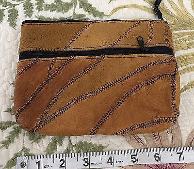 Vintage Ladies Suede Leather Bag