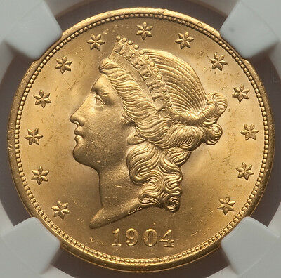 1904 Liberty $20.00 gold NGC MS-63 bright and Lustrous