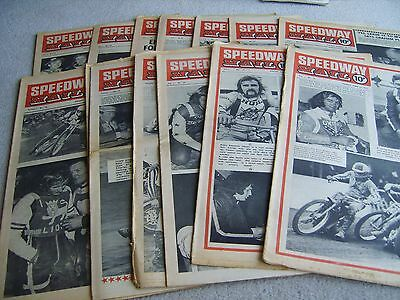 14 Volume 1 1973 Speedway Mail newspapers, June to September issues