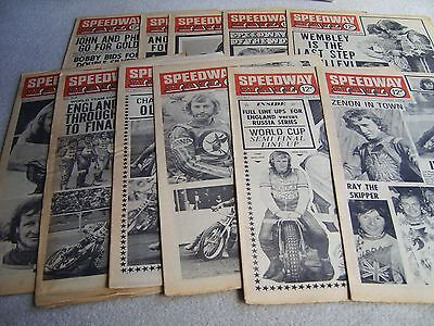 11 1974 Speedway Mail newspapers, Volume 2 issues, July to September