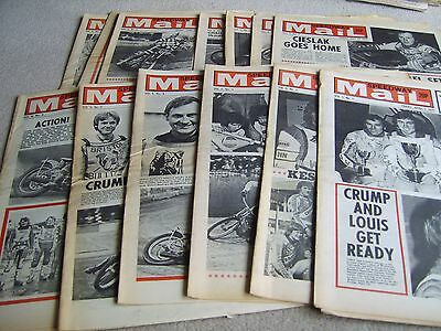 13 1977 Speedway Mail newspapers, Volume 5 issues, April to June