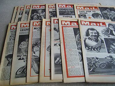 14 1977 Speedway Mail newspapers, Volume 5 issues, July to September