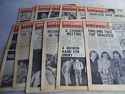 13 1974 Speedway Mail newspapers, Volume 2 issues, April to June