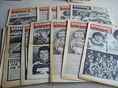 13 1975 Speedway Mail newspapers, Volume 3 issues, April to June