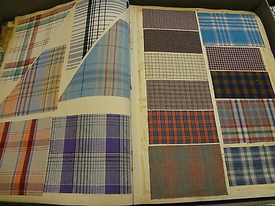 Antique Edwardian fabric sample swatch book 1891 Men's Women's cotton plaids
