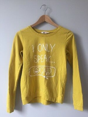 H&M Kids Unisex Yellow Pullover Sweater Size 12-14Y