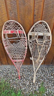 """VINTAGE Snowshoes 41"""" long by 12"""" wide ODD Set Ready To Hang for Decor"""