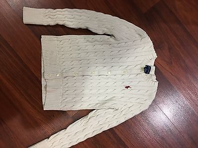 Girls Ralph Lauren Cardigan Sweater 8-10 M Medium