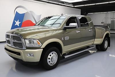 2014 Dodge Ram 3500  2014 DODGE RAM 3500 LONGHORN MEGA DIESEL DUALLY NAV 61K #224840 Texas Direct