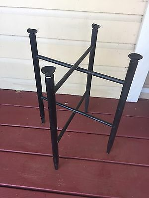 Vintage Asian Wood Lacquer Tray Stand