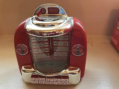 Enesco Coca-Cola Collectible Musical Bank Tabletop Jukebox.  Works Great!