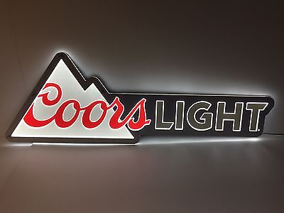 """Coors Light LED Sign Signature Logo  - NEW & F/S - 40"""" X 13.5"""" - Nice Size Sign"""