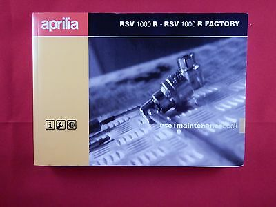 Aprilia Rsv 1000 R Factory Owners Manual Handbook Riders Book 2006 2007 8104953