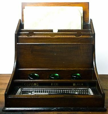 19th Century Victorian Clerk's Stationery Letter Box Ink Writing Desk