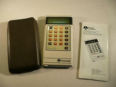 Rockwell International 18T Calculator With Soft Cover & Instructions 1976