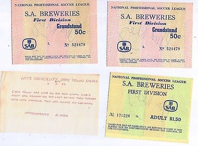 3 Early 1980's NPSL South Africa match tickets all SIGNED by Chris Riley