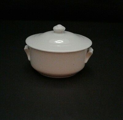 Vintage Antique White Ironstone  Covered Soap Dish