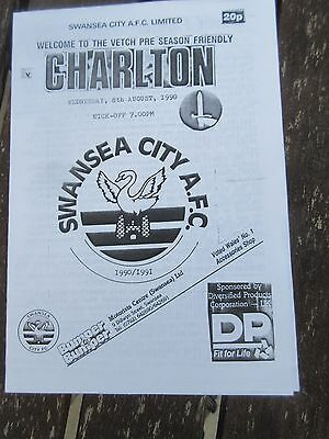 1990-91 Swansea v Charlton  Friendly
