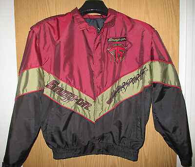 Vtg 90's SNAP-ON TOOLS RACING TEAM JACKET ~ SIZE LARGE  EMBROIDERED