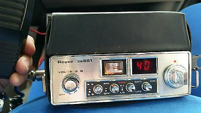 Vintage 1977 Royce 651  40-Channel PORTABLE MOBILE CB Radio LED - FREE SHIPPING