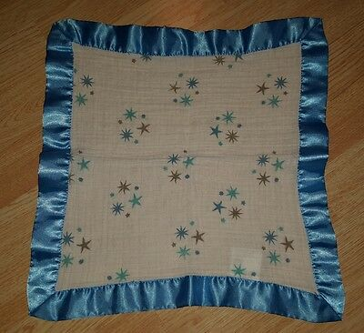 Aden and Anais starstruck stars lovey issie security blanket blue white gray